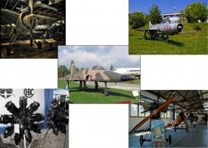 Eksponaty Muzeum Lotnictwa Polskiego