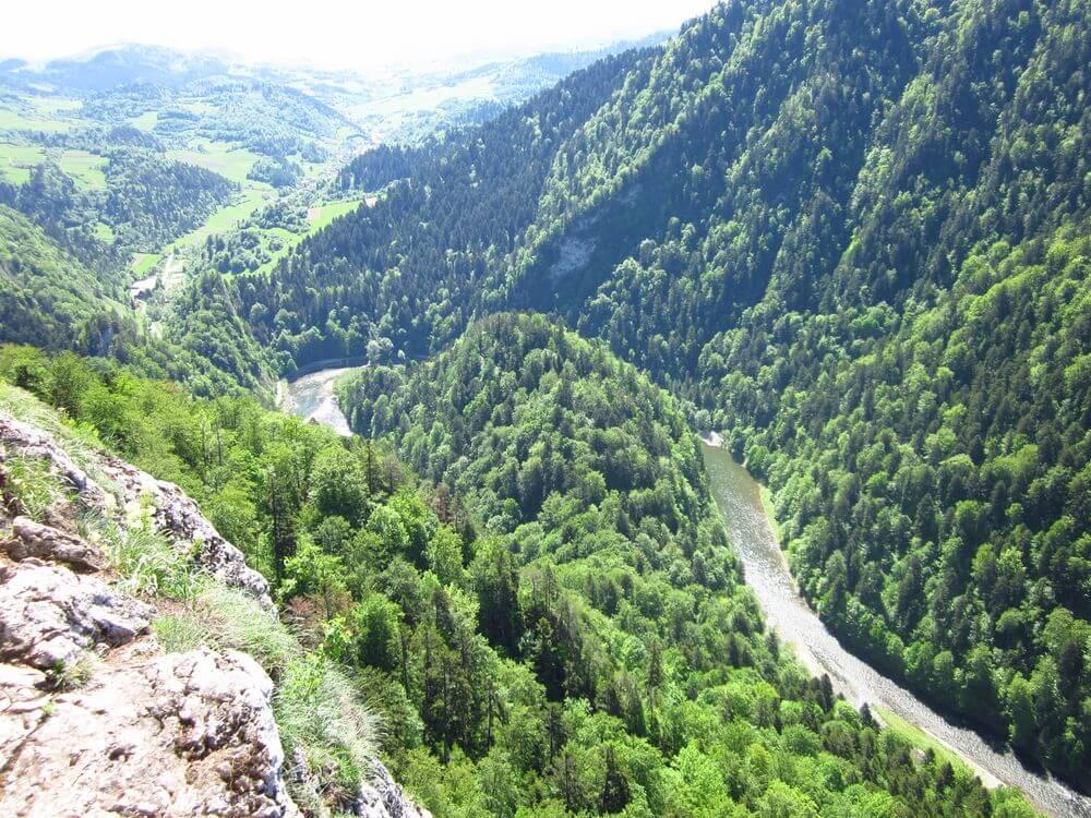 Sokolica: widok na przełom Dunajca