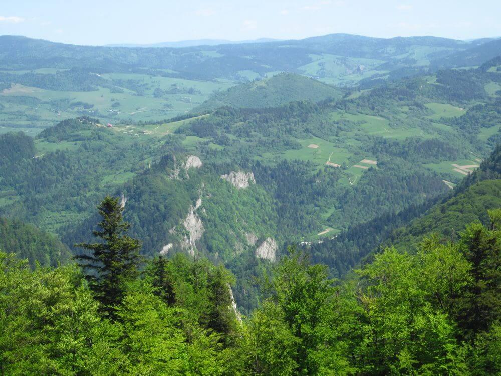 Trzy Korony: widok ze szczytu
