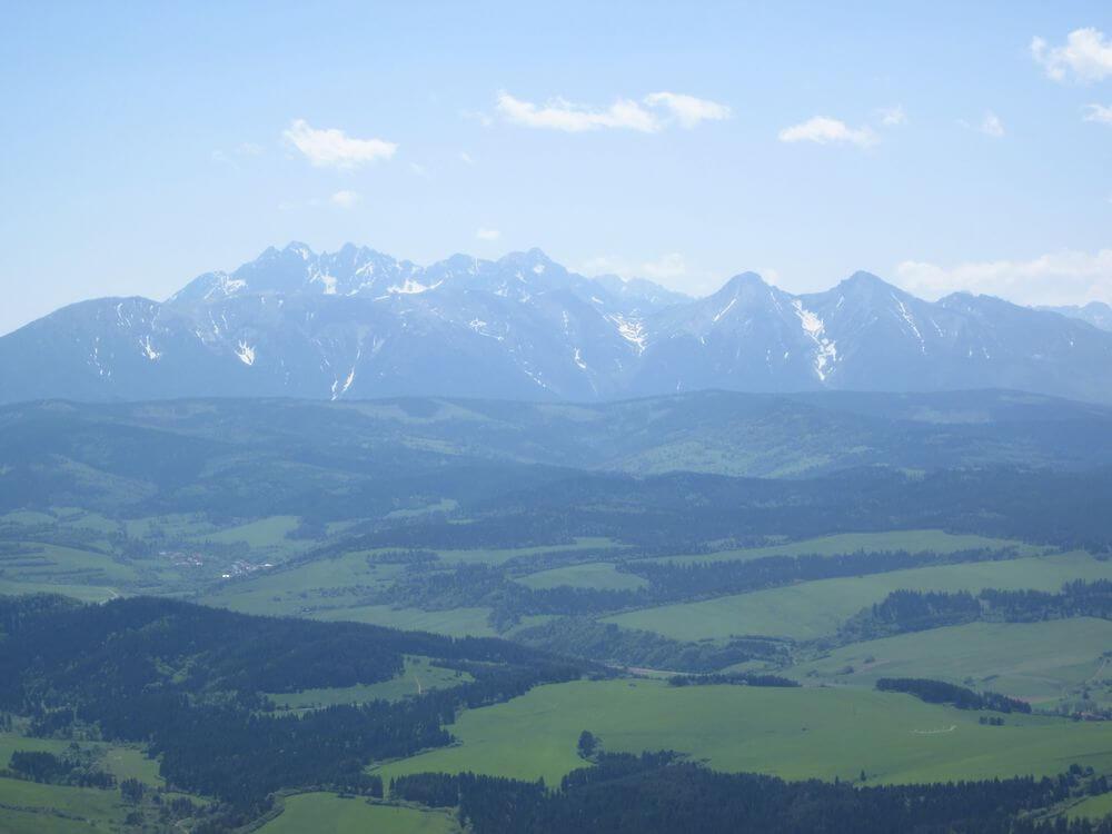 Trzy Korony: widok na Tatry