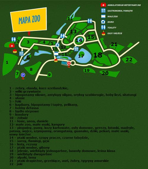 Mapa Zoo w Gdańsku