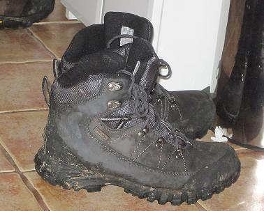 buty trekkingowe HiMountain Pashan po wędrówce w deszczu